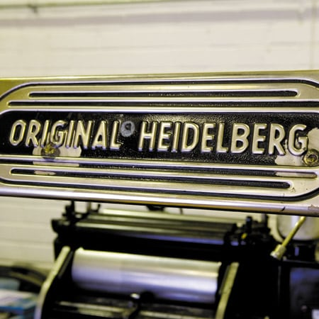 One of the Heidelberg presses we used to own.
